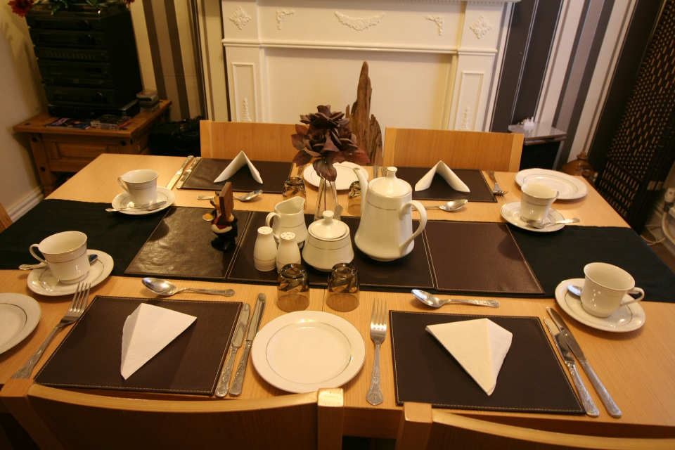 In our gallery St Hilda Guest House dining table