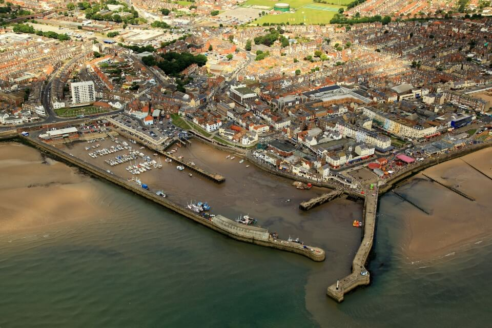 St Hilda Guest house Ariel View of Bridlington Harbour
